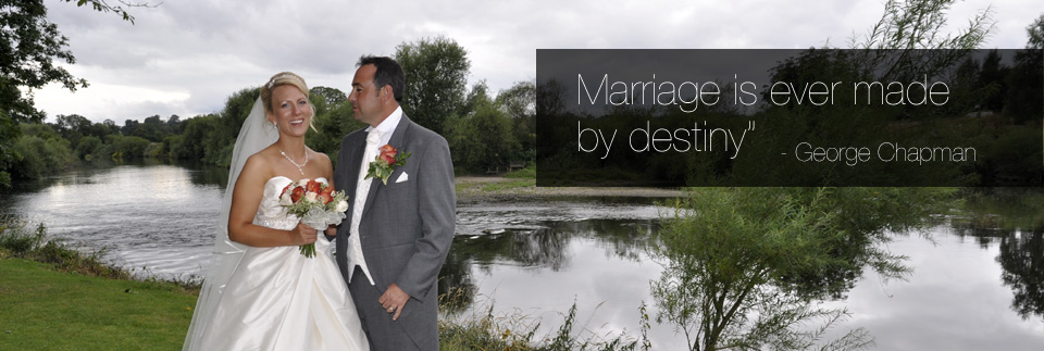 Bride & Groom Banks of river Severn taken by shrewsbury wedding photography whitfield photography